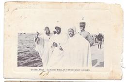 CASABLANCA - Le Sultan MOULAY HAFID Visitant Les Quais - Ed. P. Grébert  - 1914 - Casablanca