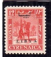 LIBIA LIBYA 1951 REGNO INDIPENDENTE EMISSIONE PER LA CIRENAICA CYRENAICA 12m MNH - Libia