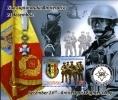 Roumanie Romania Bf 434 Unité Anti-terroriste , Médaille , Hélicoptère , Drapeau - Police - Gendarmerie