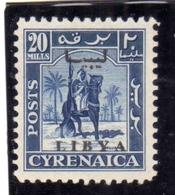 LIBIA LIBYA 1951 REGNO INDIPENDENTE EMISSIONE PER LA CIRENAICA CYRENAICA 20m MNH - Libia
