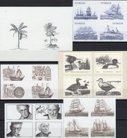 Sonderdrucke Schweden 6 SD-Blocks ** 72€ Museum Nobelpreis VIP M/s History Bloc Natur Black-sheets Ss CEPT Bf Topic - Sweden