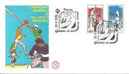 ITALIA - 1978 PARMA Campionato Mondiale Pallavolo Volley Ann. Fdc Serie Compl. Su Busta Filagrano - Pallavolo