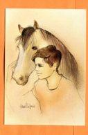 EGG1210, Illustrateur, Garçon Et Son Cheval, 5396, GF, Circulée 1983 - Pferde