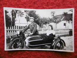 MOTO PUCH SIDE CAR PHOTO 7 X 4.3 - Foto