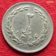 Iran 2 Rials 1987 / SH 1366 KM# 1233 Lt 406  Irão Persia Persien - Iran