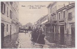 Pavia - Il Borgo Ticino Allagato 28 Ottobre 1907 - Cartolina Pubblicitaria    (190414) - Pavia