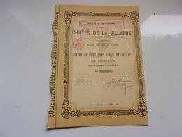 CHUTES DE LA GILLARDE (1928) - Shareholdings