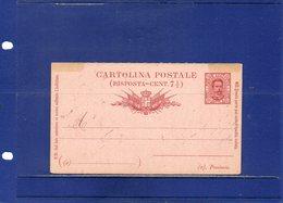 ##(DAN195)- Cartolina Postale Risposta Cent.7 1/2 Mill.90 Cat.Filagrano C14,  Nuova - 1878-00 Umberto I
