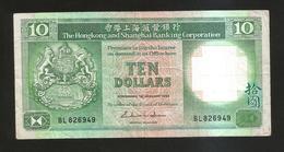 HONG KONG - SHANGHAI BANKING CORPORATION - 10 DOLLARS (1985) - Hong Kong