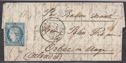 Ballon Monté N37 Etoile Paris-Orbec. Signé Et Certificat Roumet - 1870 Siege Of Paris