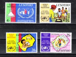 Lesotho - 1973. FAO. Programma Alimentare. World Food Program. Complete MNH Series - Alimentazione