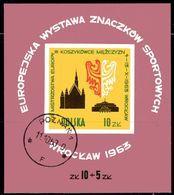 Basketball Polen Block 30 O 2€ Europa-Meisterschaft Wroclaw 1963 Rathaus Hoja Sport Wap Bloc Sheet Bf POLSKA/POLAND - Blocks & Sheetlets & Panes
