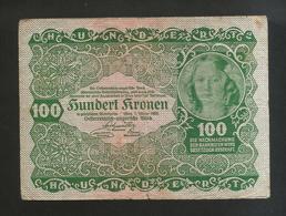 AUSTRIA / OSTERREICH - OESTERREICHISCH-UNGARISCHE BANK - 100 KRONEN (1922) - Austria