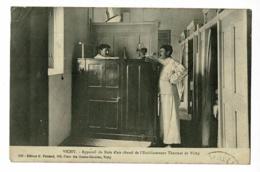 Vichy - Appareil De Bain D'air Chaud, Etablissement Thermal (curiste & Aide-soignant) Circulé 1925, Flamme Publicitaire - Vichy