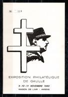 Exposition Philatélique De Gaulle à Amiens En 1980. - Expositions