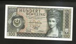 AUSTRIA / OESTERREICHISCHE NATIONALBANK - 100 SHILLING - (Wien 1969) A. Kauffmann - Austria