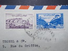 Marcophilie  Cachet Lettre Obliteration - LIBAN Beyrouth à Destination FRANCE - (2339) - Lebanon