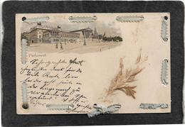 Wien,Austria-Parlament Bldg 1899 - Antique Ribbon Stitched Postcard - Autres