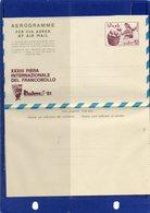 ##(DAN195)- Somalia 1981- Riccione (Italy) XXXIII International Stamp Fair  Sh.So 0,25 Aerogramme - Unused - Somalia (1960-...)