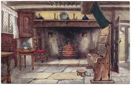Chimney Corner Anne Hathaway's Cottage By W W Quatremain Unused - Salmon 2180 - Other Illustrators