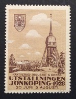 SVEZIA   JÖNKÖPING  UTSTALLNINGEN  1928   ETICHETTA PUBBLICITARIA     ERINNOFILO - Cinderellas