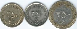 Iran - 250 Rial - SH1372 (1993) KM1262; SH1385 (2006) KM1268 & SH1386 (2007) KM1282 - Iran