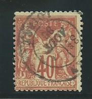 FRANCE: Obl., N° YT 70, T.I, Rouge-orange, TB - 1876-1878 Sage (Typ I)