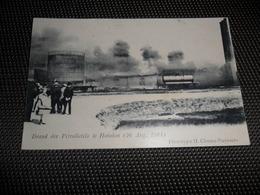 Hoboken  ( Antwerpen )  Brand Der Petrolketels  26 Augustus 1904 - Antwerpen