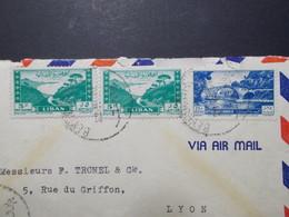 Marcophilie  Cachet Lettre Obliteration - LIBAN Beyrouth à Destination FRANCE - (2342) - Liban