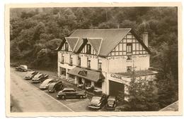 """FALAEN - Valée De La Molignée """"LA TRUITE D'OR"""" Hôtel. Oldtimers: Chevrolet, MG, Voitures Américaine Fleetmaster 1948. - Onhaye"""