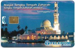 Malaysia - Telekom Malaysia (chip) - Masjid Tengah Zaharah, (Chip Siemens S5), 20RM, Used - Maleisië