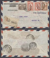 PERU. 1934 (6 Ago). Lima - Germany (18 Ago). Reg Air Multifkd Env 1 Sol 24c Rate. Via Canal Zone (8 Ago), NY (11 Ago). Q - Perù
