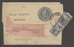 Argentina - Stationery. 1903 (7 Aug). BA - Germany. 2c Black Stat Wrapper 2c Pair Cds. Fine. - Argentinien