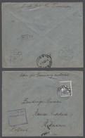 BC - N.W. Pacific Isl.. 1916 (9 Nov). Madang - Netherlands (20 Jan 17). Via Sydney (28 Nov). 2 1/2d Fkd Censored Env Wit - Unclassified