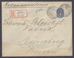FINLAND. 1912 (24 Aug). Bjorneborg - Germany (27 Aug). Reg Fkd Env 20k Env Cds TPO R-label. - Finland