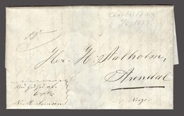 USA. 1859 (9 June). Charlestown, PA- Norway. Stampless EL Endorsement With God Help Captain NWSvensen. Fine. - Unclassified