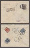 SLOVENIA. 1927 (2 Jan). Celje - Dutch Indes / Indonesia (22 Feb). Reg Multifkd Cds Env 7d 50c. Better Dest Usage. - Slovénie
