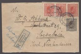 SLOVENIA. 1927 (23 June). Ljubljana - Dutch Indes / Indonesia (17 July). Via Port Said / Egypt (28 June). Reg Multifkd C - Slovénie