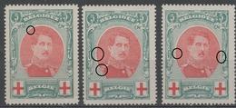 BELGIQUE - 1915 - ** - COB 132 - Croix Rouge -  - Valeur 126€ - 1914-1915 Cruz Roja