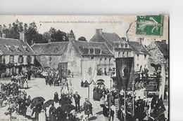 SAINTE HELENE  BUBRY   PROCESSION  ARRIVEE AU BOURG  FOULE  Pli Bas Droite 2choix    DEPT 56 - France