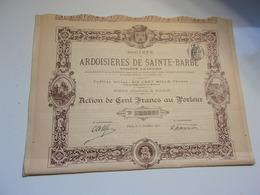 ARDOISIERES DE SAINTE BARBE (1901) - Shareholdings