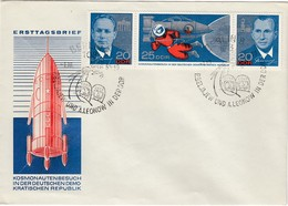 DDR 1965 - MiNr: 1138-1140 3er Streifen  Komplett  FDC - Europa