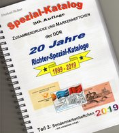 SMH DDR 2019 Katalog Teil 3 RICHTER New 25€ Sondermarken-Heftchen+Abarten Booklet/carnets Special Catalogue Germany - Blocchi