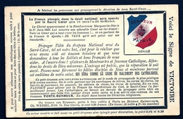 CP 3- CPA ANCIENNE FRANCE- MILITARIA- RARE PATRIOTIQUE RELIGIEUSE- BLASON TRICOLORE-SIGNE DE LA VICTOIRE - Patriotiques