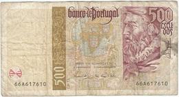 Portugal 500 Escudos 17-4-1997 Pk 187 A.2 Firmas António José Fernandes De Sousa Y Luís Manuel Moreira De Campos E Cunha - Portugal