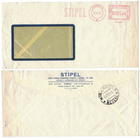 AP85   Italia, Italy 1958  Red Meter, EMA Freistempel  STIPEL Telephone Company, Telefon - Telecom