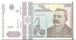 Rumanía - Romania 200 Lei 1992 Pk 100 A UNC - Rumania
