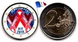 France - 2 Euro 2014 (Jounée Mondiale Contre Le Sida - Color) - France