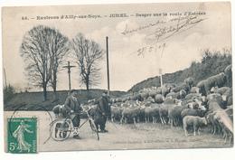 JUMEL - Berger Sur La Route D'Estrées, Troupeau De Moutons - France