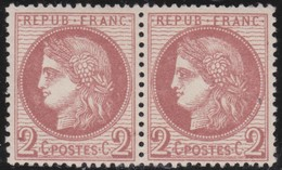 France   .    Yvert  .    51  Paire  ( 2 Scans )     .     **   .     Neuf SANS Charniere  .   /   .   MNH - 1871-1875 Cérès